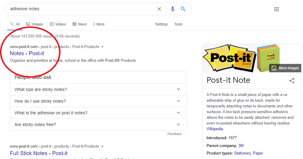 Examples of SERPs Features